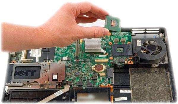 ноутбуки надо поменять процессор и сколько стоит